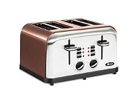 Briscoes NZ Zip Metalic Toaster Copper Colour 4 Slice ZIP472