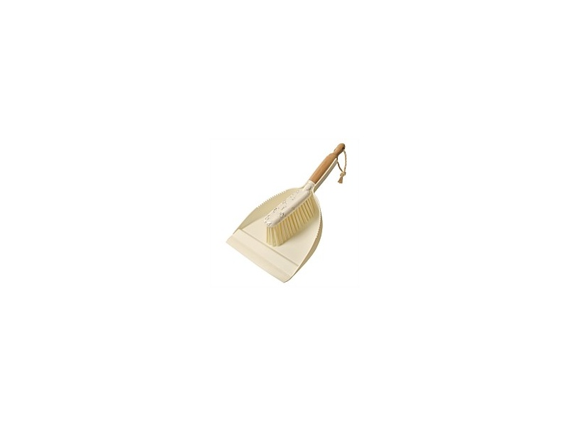 Simply Clean Marble Bamboo Dustpan & Brush Set