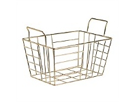 Briscoes NZ Alicante Storage Basket Rectangle Gold Medium