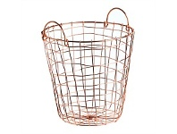 Briscoes NZ Cacenes Storage Basket Round Rose Gold Medium