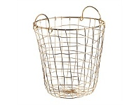 Briscoes NZ Cacenes Storage Basket Round Gold Medium