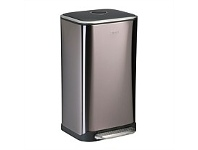 Briscoes NZ ZIP Refuse Bin Metallic Char Grey 32L