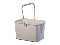 Briscoes NZ Plastique Mop Bucket White 10 Litre