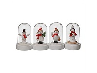 Briscoes NZ LED Christmas Dome Decoration Assorted Figures 9cm