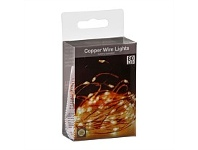 Briscoes NZ Copper Wire LED Christmas Lights 80 Bulb Warm White