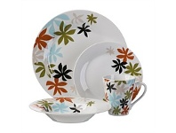 Briscoes NZ Tablefair Pesto Porcelain Dinnerset 16pc
