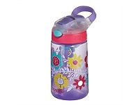 Briscoes NZ Contigo Kids GizmoFlip Autospout Drink Bottle Flowers 420ml