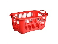 Briscoes NZ Tontarelli Laundry Basket C/Line Red