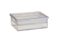 Briscoes NZ Tontarelli Storage Box Linea Clear With Tray 3.5 Litre