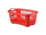 Briscoes NZ Tontarelli Laundry Basket C/Line Red Small