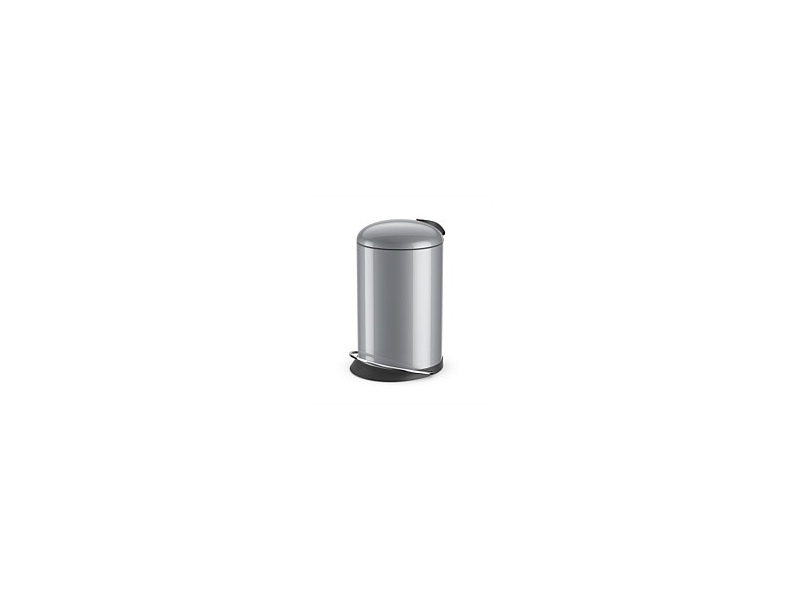 Hailo Top Design Refuse Bin Silver 12 Litre