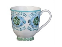 Briscoes NZ Hampton/Mason Global Folk Mug Blue/Green Floral 330ml
