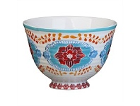 Briscoes NZ Hampton/Mason Global Folk Fruit Bowl Blue/Red Floral 11cm