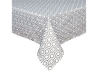 Briscoes NZ Just Home Flynn Black Tablecloth 130x180cm