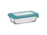 Briscoes NZ Anchor Hocking Storage with Mineral Blue Lid 4 3/4 Cup 1.1L