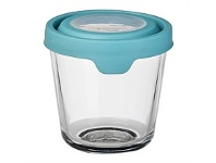 Briscoes NZ Anchor Hocking Storage with Mineral Blue Lid 3.5 Cup 0.85L