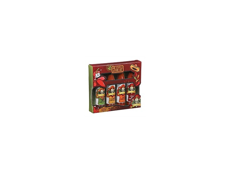 Four Lines of Heat Hot Sauce Gift Set