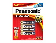 Briscoes NZ Panasonic Alkaline Battery AAA 4 Pack