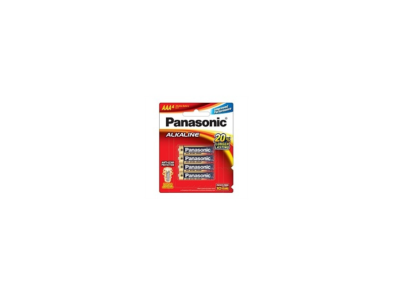 Panasonic Alkaline Battery AAA 4 Pack