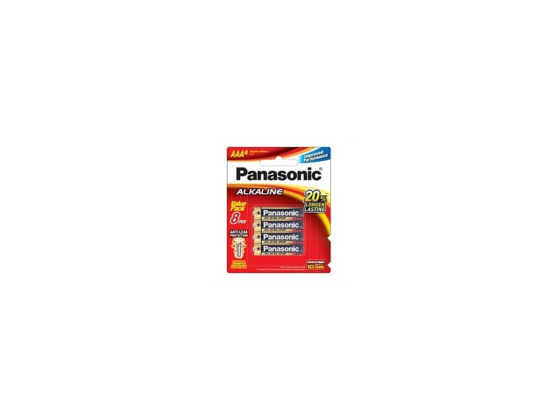 Panasonic Alkaline Battery AAA 8 Pack