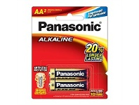 Briscoes NZ Panasonic Alkaline Battery AA 2 Pack