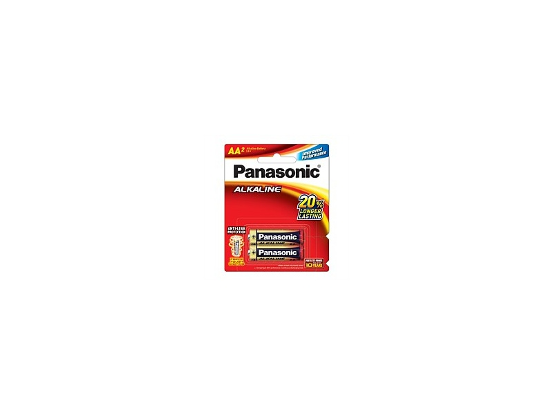 Panasonic Alkaline Battery AA 2 Pack