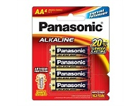 Briscoes NZ Panasonic Alkaline Battery AA 4 Pack