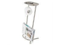 Briscoes NZ Umbra Valetto Toilet Paper Stand Nickel