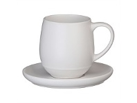 Briscoes NZ Ecology Earth Series White Cup & Saucer 350ml