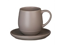 Briscoes NZ Ecology Earth Series Taupe Cup & Saucer 350ml