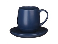 Briscoes NZ Ecology Earth Series Navy Cup & Saucer 350ml
