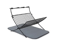 Briscoes NZ UMBRA X Dry Fold Dish Rack With Mat Charcoal
