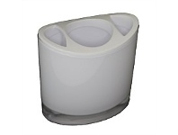 Briscoes NZ Spa By Volere Optic Toothbrush Holder White