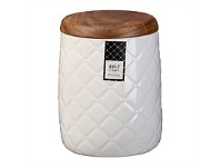 Briscoes NZ Ciroa Quilt White Porcelain Storage Jar 15.2cm
