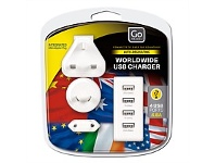 Briscoes NZ Go Travel Worldwide USB Charger White
