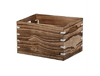 Briscoes NZ Orba Storage Box Wooden Brown Large