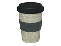 Briscoes NZ Prestige Bamboo Fibre Grey Barista Cup 550ml
