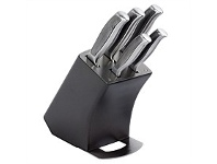 Briscoes NZ Wiltshire Finesse Stainless Steel Knife Block Set 6 Piece