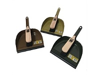 Briscoes NZ Go Clean Dustpan & Brush Set Classic Metal Assorted