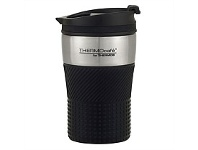 Briscoes NZ Thermos ThermoCafe Vacuum Insulated Coffee Cup Black 200ml