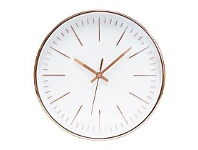 Briscoes NZ The Time Company Winsome Wall Clock Rose Gold 30.5cm