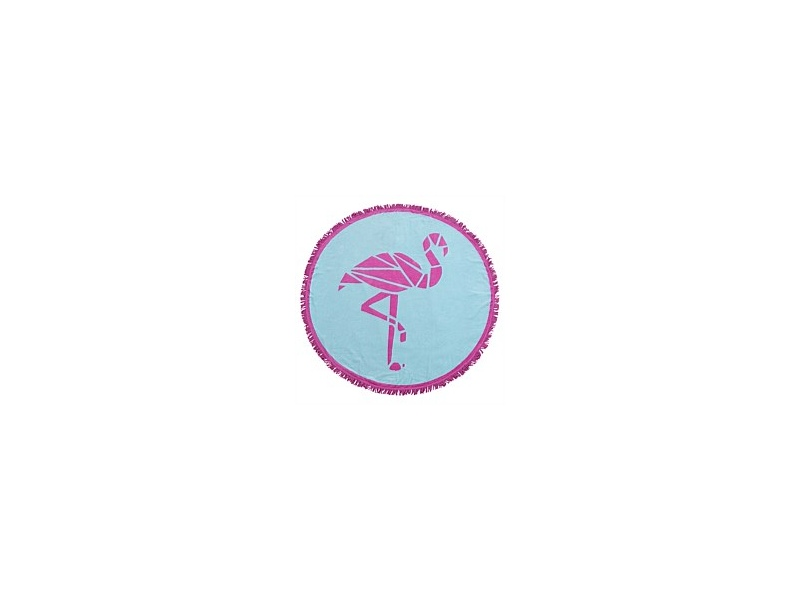 Nautic Club Flamingo Round Beach Towel 150cm