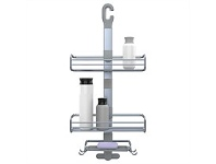 Briscoes NZ Evolve Deluxe Jumbo Shower Caddy Matt Silver