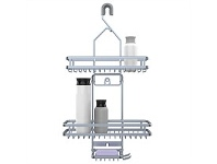 Briscoes NZ Evolve Jumbo Shower Caddy Matt Silver