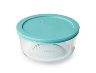 Briscoes NZ Pyrex Round Storage With Turquoise Lid 950ml 4 Cup