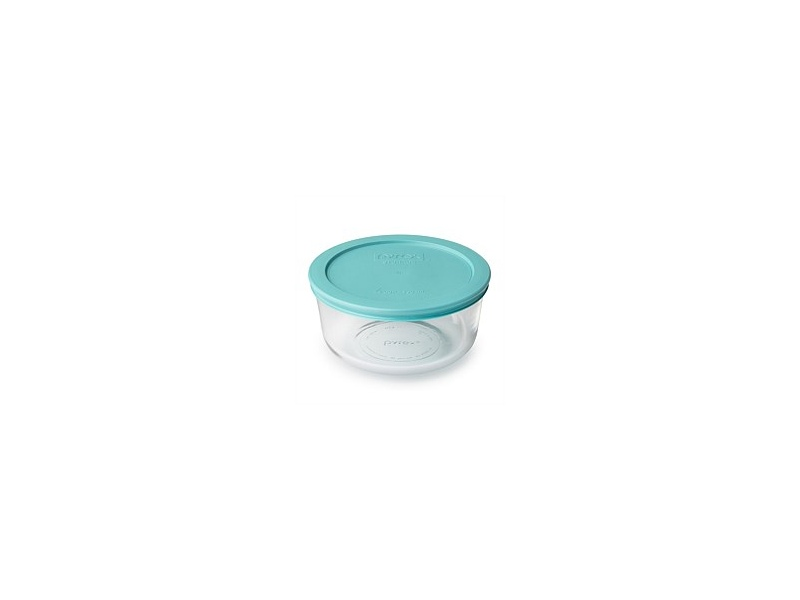 Pyrex Round Storage With Turquoise Lid 950ml 4 Cup