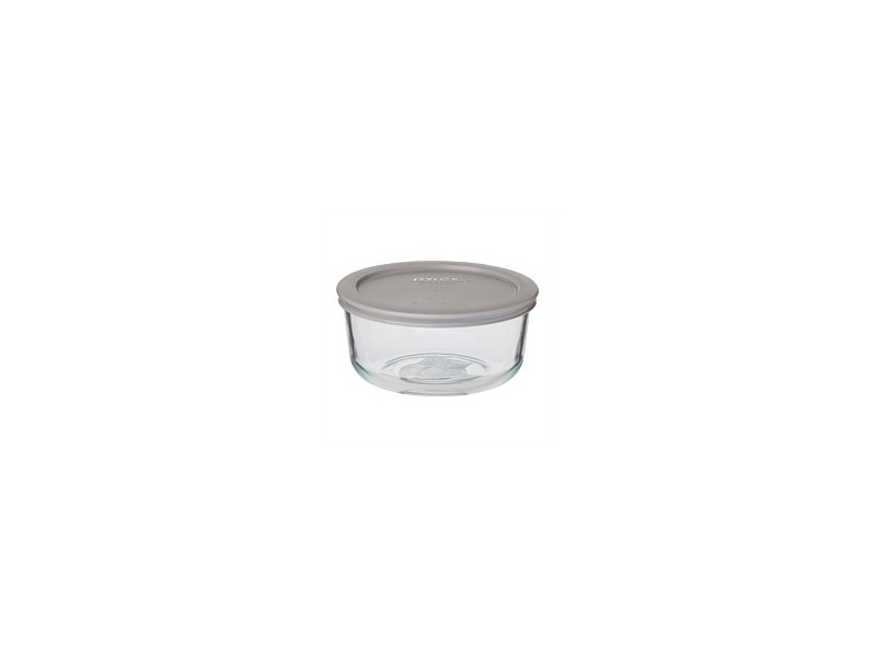 Pyrex Round Storage With Grey Lid 950ml 4 Cup