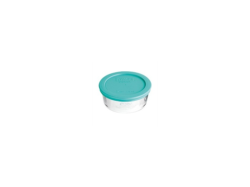 Pyrex Round With Turquoise?Lid Set 3 470ml 2 Cup