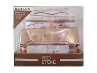 Briscoes NZ Red Stone Marble 3 PC Train Case Set