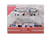 Briscoes NZ Red Stone Dots 3 PC Train Case Set